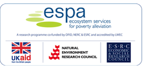 espa logo. ecosystem services for poverty alleviation