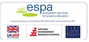 espa logo. ecosystem services for poverty alleviation